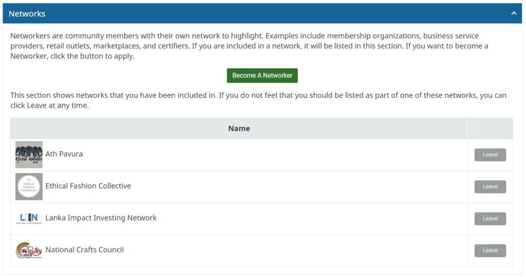 Account Brand Network Sena