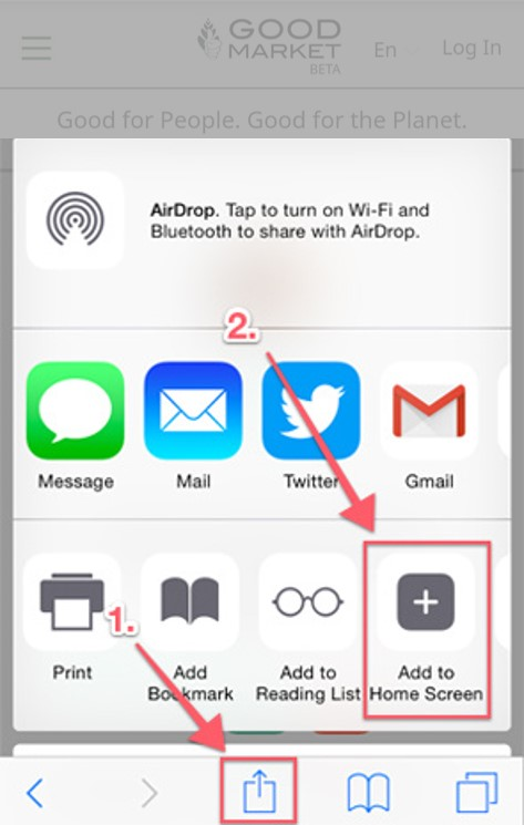 App Add to Home Screen iOS
